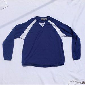 Men's Reebok long sleeve Fitted Shirt Size S Blue